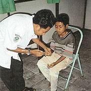 Leprakind in Behandlung
